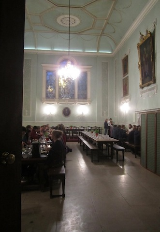 Dining in the Hall.